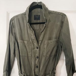 Abercrombie & Fitch utility olive green jumpsuit L